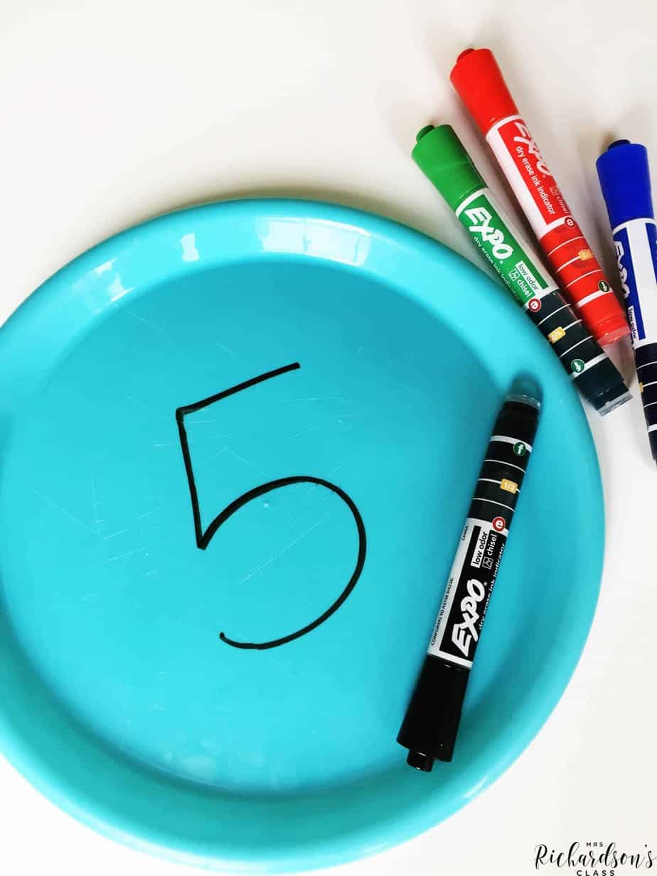 Use dry erase markers with plastic plates to do quick checks during whole group lessons.