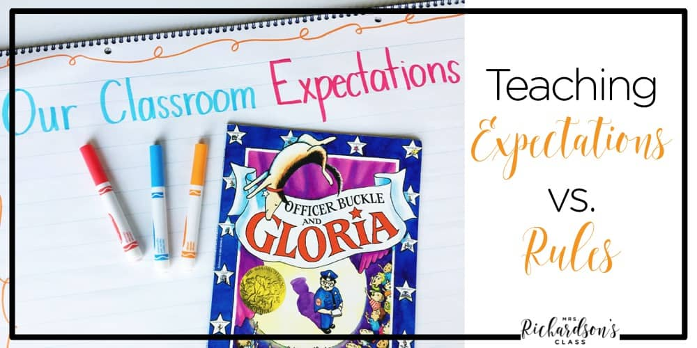 Teaching students expectations at the beginning of the year and forming those powerful words together helps your classroom become a community.