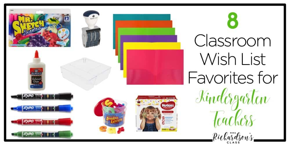 Classroom supplies, unfortunately, don't magically grow on trees. There are always things we WISH we had or wish we had MORE of! Create a teacher wish list with your favorites as a kindergarten teacher.