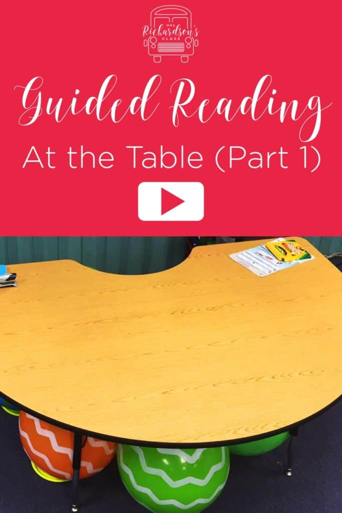 Let's talk about what happens once we bring kids to our guided reading table!