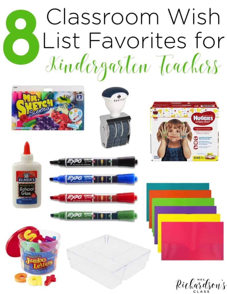 Classroom supplies, unfortunately, don't magically grow on trees. There are always things we WISH we had or wish we had MORE of! Create a classroom wish list with your favorites as a kindergarten teacher.