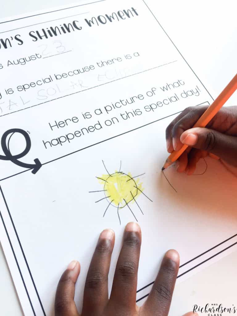 Grab this FREE solar eclipse writing activity to engage your little learners after a discussion or demonstration!