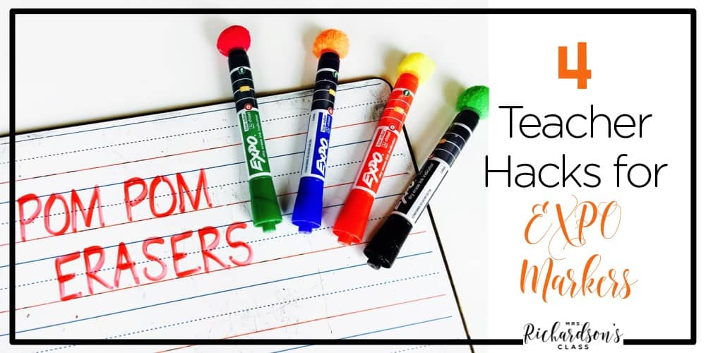 Save your EXPO markers and make your teacher life easier with these 4 EXPO marker hacks!