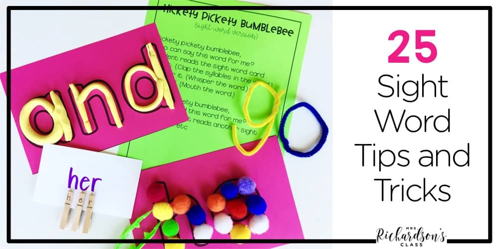 If you are tired of the same old sight word tips and tricks, here are 25 ways to practice sight words in your classroom!