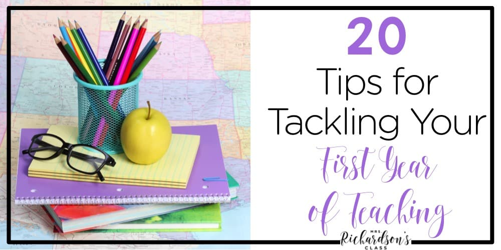 Do you feel like you are barely surviving your first year of teaching? I know the feeling! Here are 20 tried and true tips for surviving your first year of teaching!