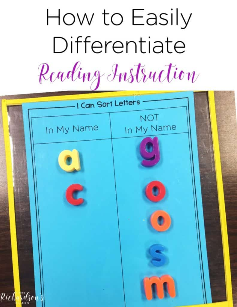 Do you struggle to differentiate your reading instruction? Check out these things you may already do in your classroom that help you meet your students where they are!