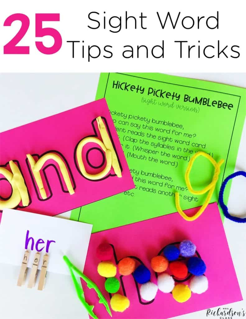 25 Sight Word Tips and Tricks
