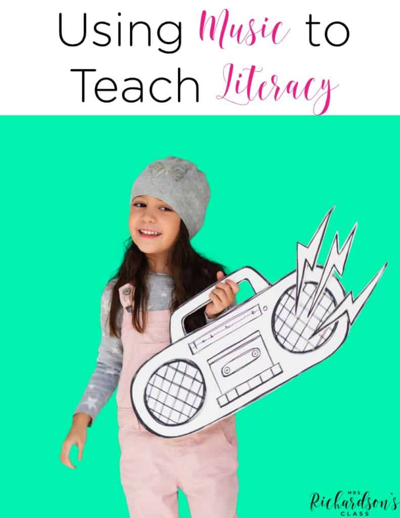 Using music to teach literacy is a great tool! See how this teacher grabs her students' attention with music and teaches them valuable reading skills by doing so!