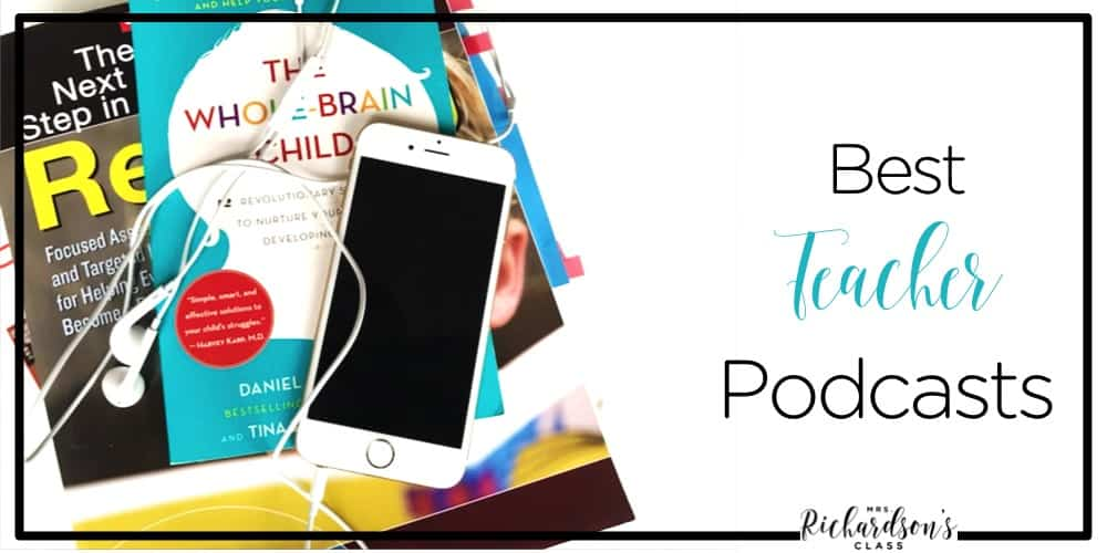 Looking for a little professional development on the go? Check out these top teacher podcasts!
