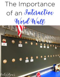 Using an interactive word wall is crucial as you build literacy skills. Find out how to use a word wall, why you need a word wall, and the importance of it being interactive in this blog post for kindergarten and first grade!