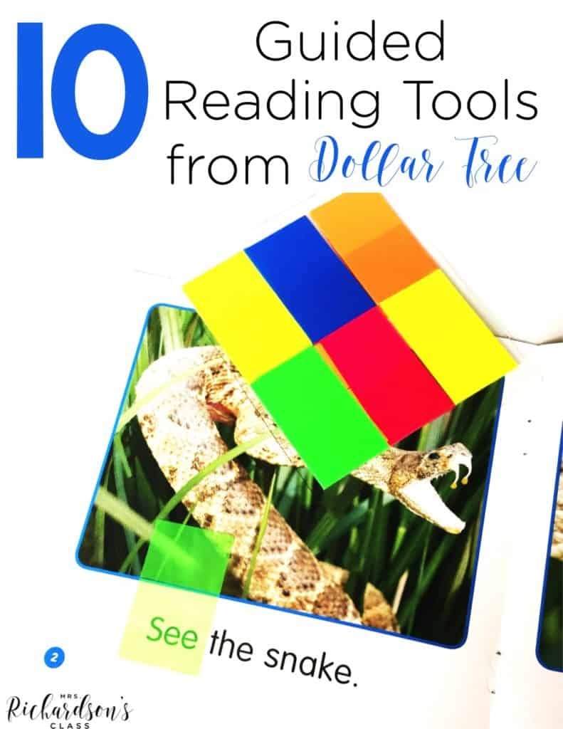 10 Guided Reading Tools from Dollar Tree