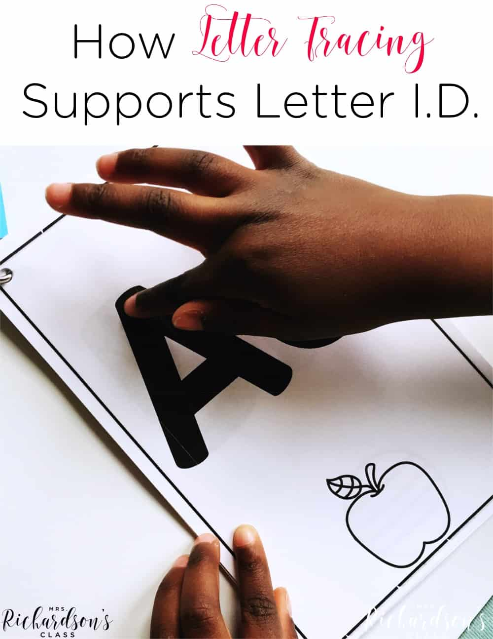 Letter tracing is a simple way to help students who are struggling with letter id! All you need is a book and teacher and you are set! Use this FREE letter identification activity as a warm up in your guided reading groups, have a tutor use it with a child, or send it home with struggling students!