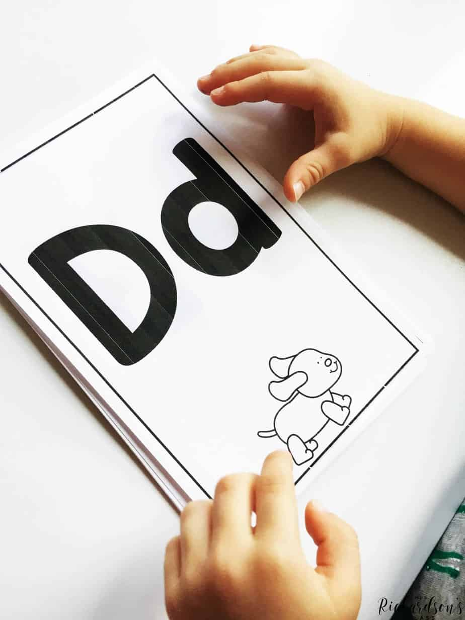 Letter tracing is a simple and very effective way to support letter id!