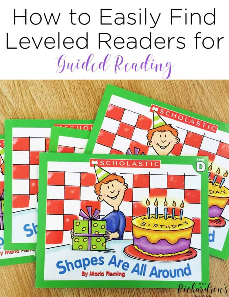 Finding Leveled Readers for Guided Reading