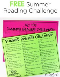 Use this FREE summer reading challenge to keep your students reading throughout the summer! It's the perfect thing to add to your summer bucket challenge for your kindergarten and first grade readers!