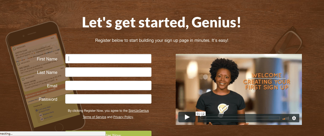 SignUpGenius is simple to use! If you are looking for a way to streamline your classroom volunteers, conference planning, and more!