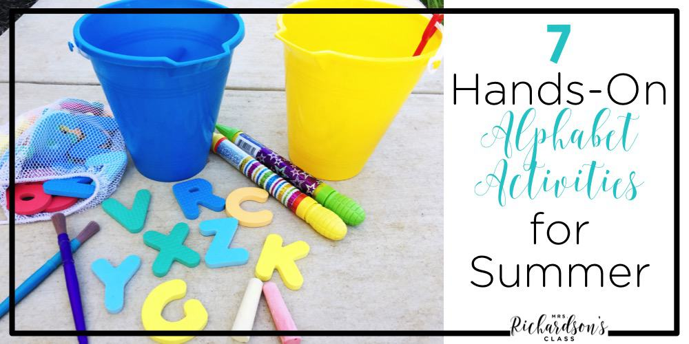 These hands-on alphabet activities are sure to make your summer fun and filled with learning! They are easy to do, supplies are affordable, and your little learners will have a blast!