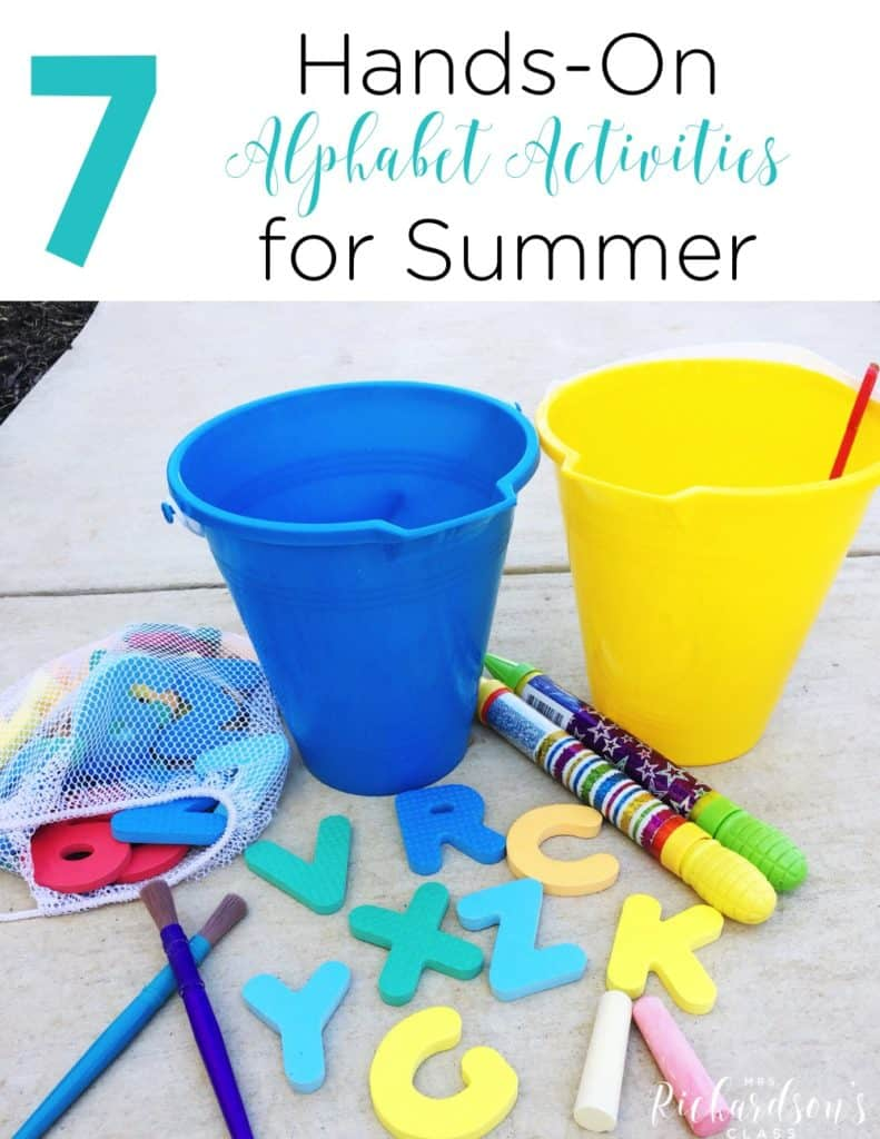 Hands-On Alphabet Activities for Summer