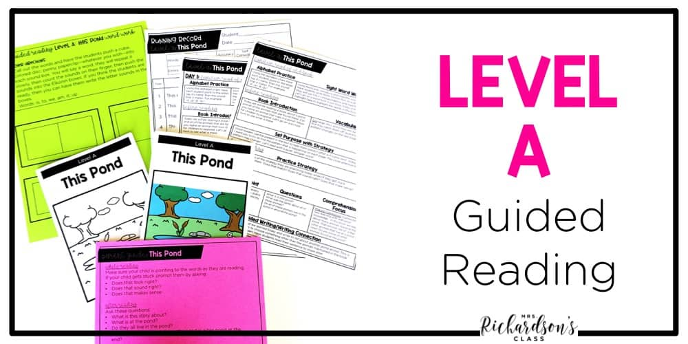 These guided reading level a resources are everything you need to have a successful guided reading group! These guided reading lesson plans, parent resources, and much more will have you set for your guided reading groups!