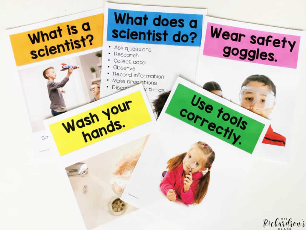 These teaching posters are a great visual resource and teaching tool in this Scientist unit. Use this unit at the beginning of the year with first grade or kindergarten students.
