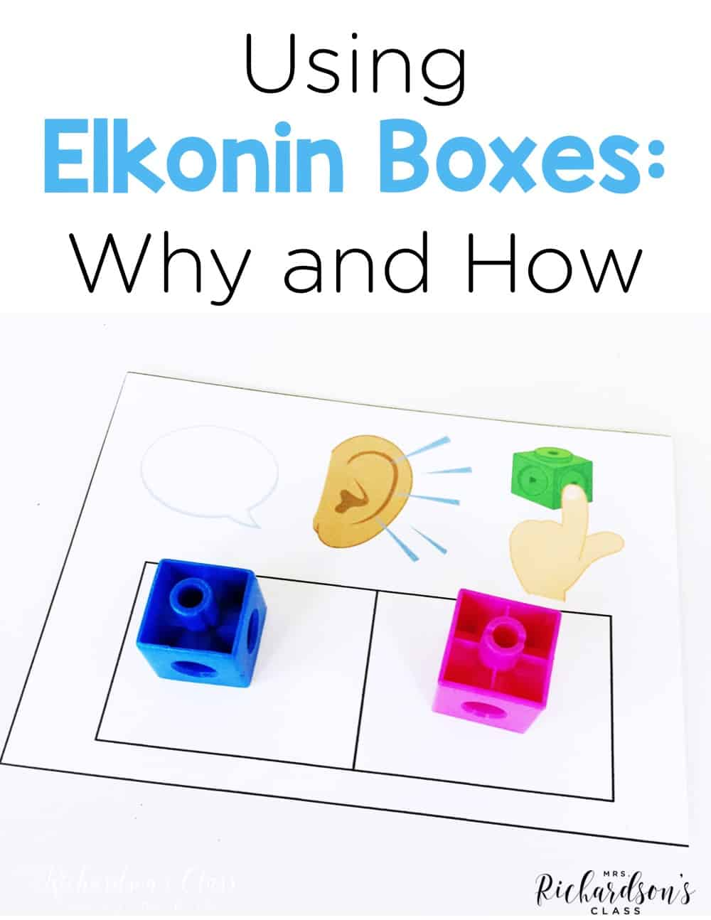 image about Elkonin Boxes Printable called Working with Elkonin Bins - Mrs. Richardsons Cl