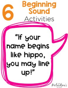 These 6 beginning sound activities are easy to implement and engaging for students! Taking the time to focus on this skill will help build a strong foundation for both reading and writing.
