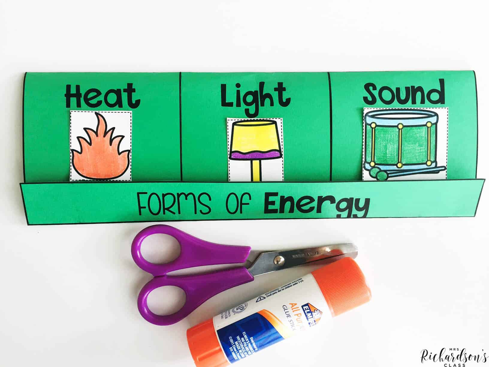 This forms of energy flip book helps students communicate their learning!