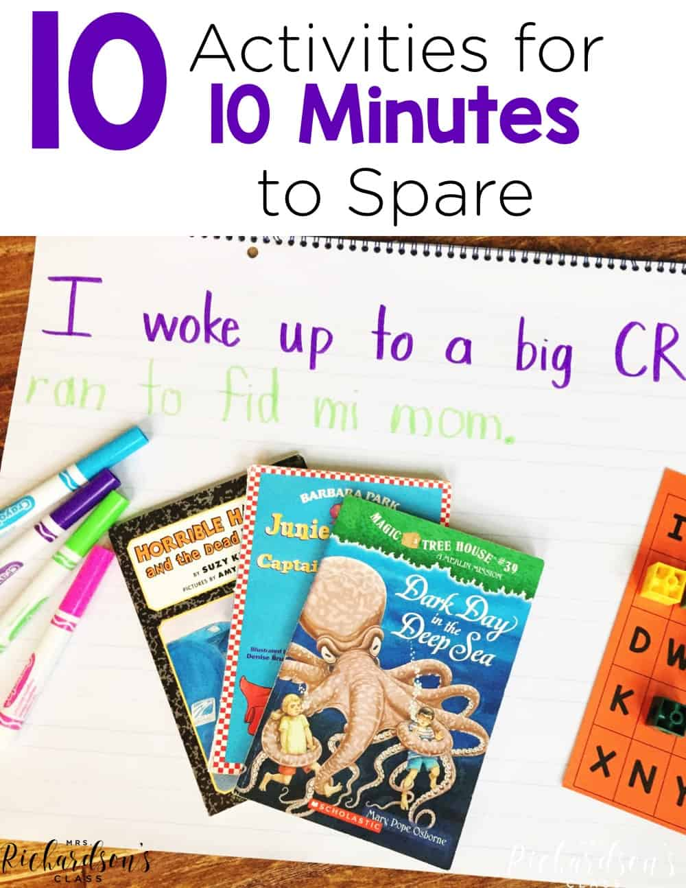 Often times teachers have a few minutes to spare here or there! Here are 10 meaningful activities you can do to fill a spare 10 minutes of time!