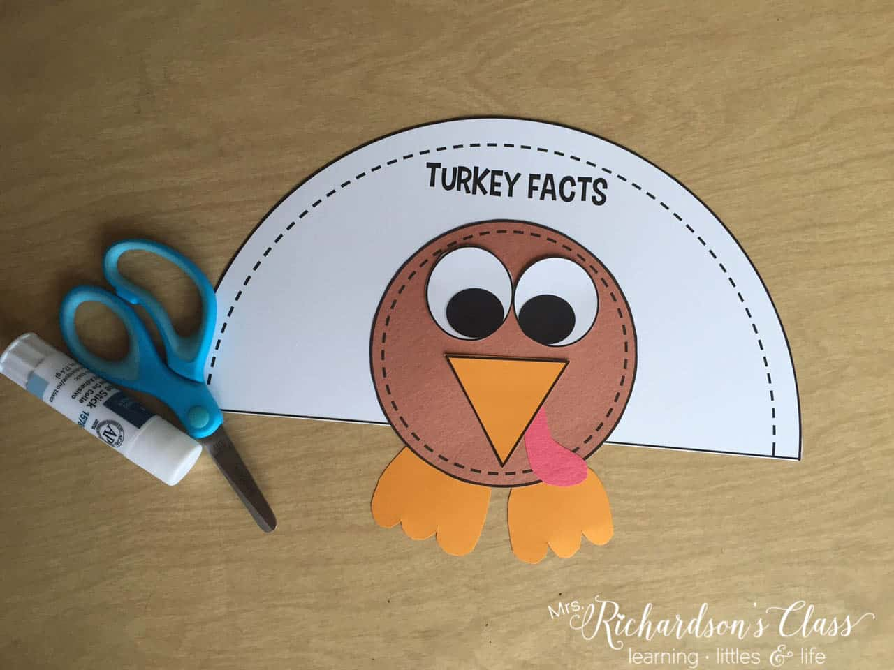 Get your students writing about turkeys with this turkey craft. They will learn all about turkeys in the turkey unit created for first grade students!