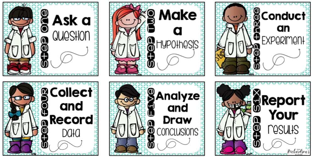 Grab these FREE scientific method posters for your little scientists to reference during science experiments.