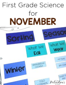 Science for November is filled with activities to engage your first grade students! From pumpkins, to weather, to turkeys, to seasons, there are 4 weeks of engaging activities to help integrate science and create excitement!