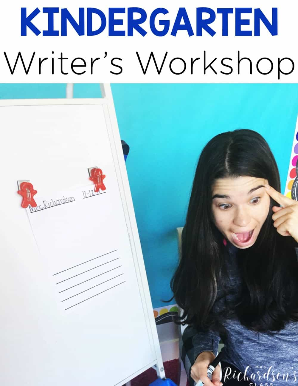 Are you looking to begin writer's workshop in your kindergarten class, but aren't sure where to begin? Are you uncertain of what each component should look like? This blog post shares each component of writer's workshop and how you can easily implement them into a kindergarten classroom.