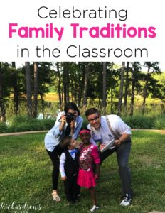 Celebrating families and family traditions in the classroom is incredibly valuable for our students. Use these ideas to celebrate families in your kindergarten and first grade classroom.