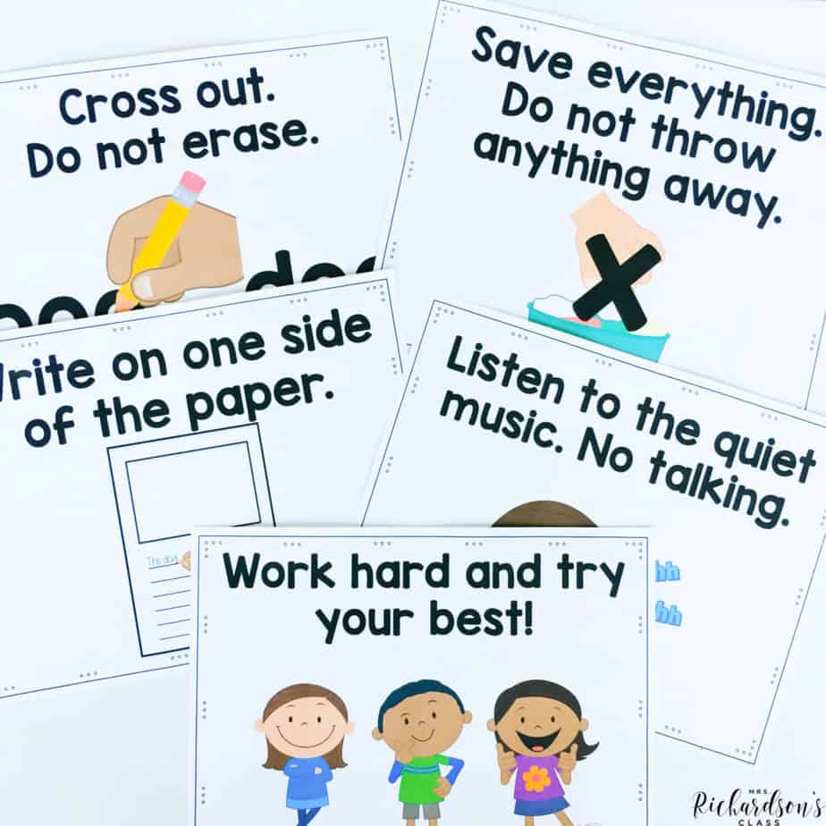 Grab these FREE writer's workshop guideline posters and be set for beginning writer's workshop!