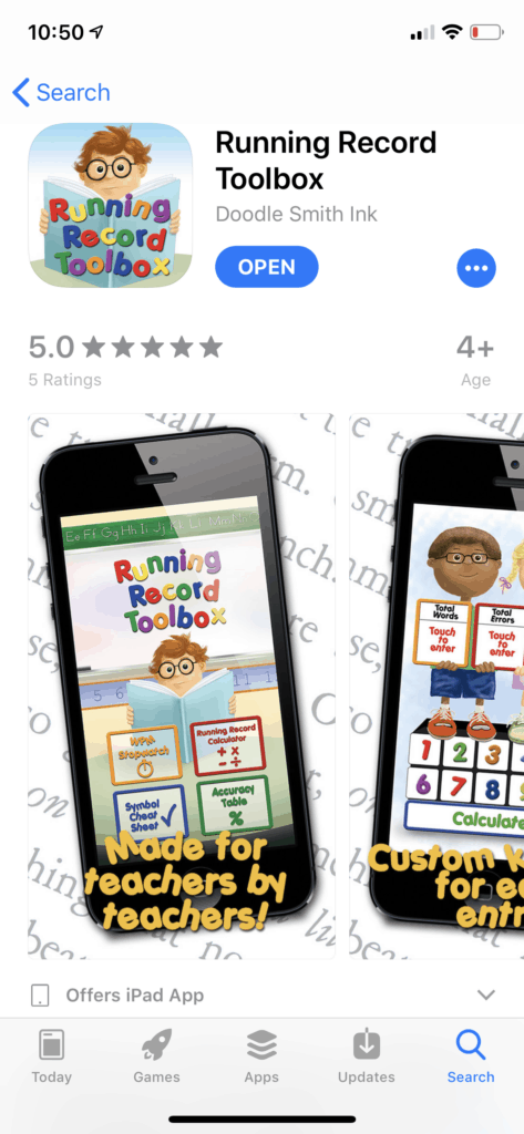 This tool, the running record toolbox, is perfect for making sure that your calculations are accurate after taking a running record during guided reading groups.