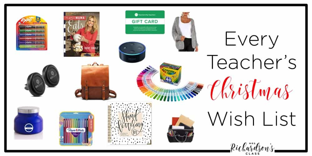Are you ready to make your wish list for the holiday season? Here are some of my favorites both in and out of the classroom as a teacher! These 12 things make fabulous teacher gifts!