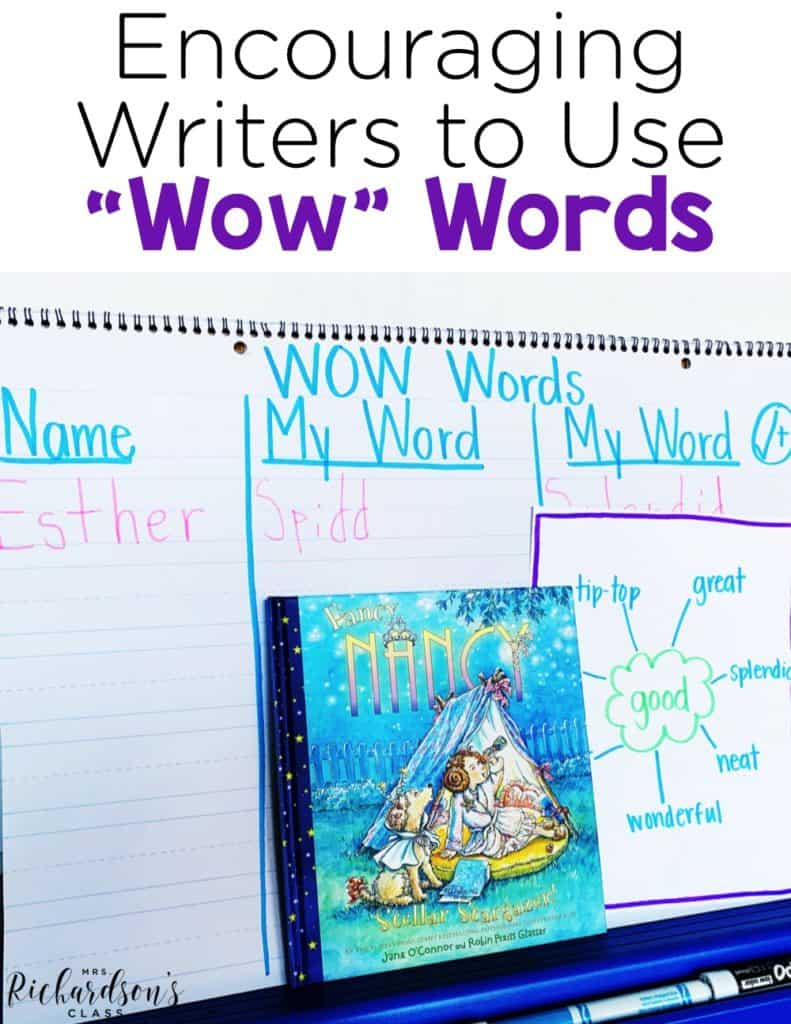 Encouraging Writers to Use Wow Words