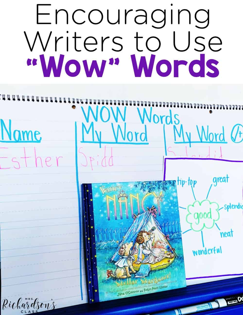 Encouraging students to expand their vocabulary in writing can be challenging, but with WOW Words it is not! Read more in this writing blog post to grab an idea for a mini-lesson with your writers workshop.