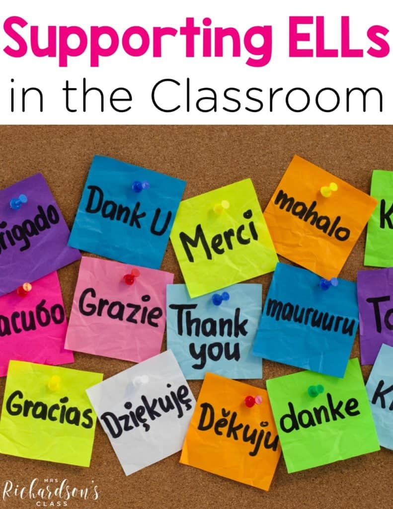 Supporting English language learners in the classroom is crucial to their success. Striving to make sure they feel comfortable, safe, and have a supportive environment is key! Here I share 7 ways to support ELL students in the classroom