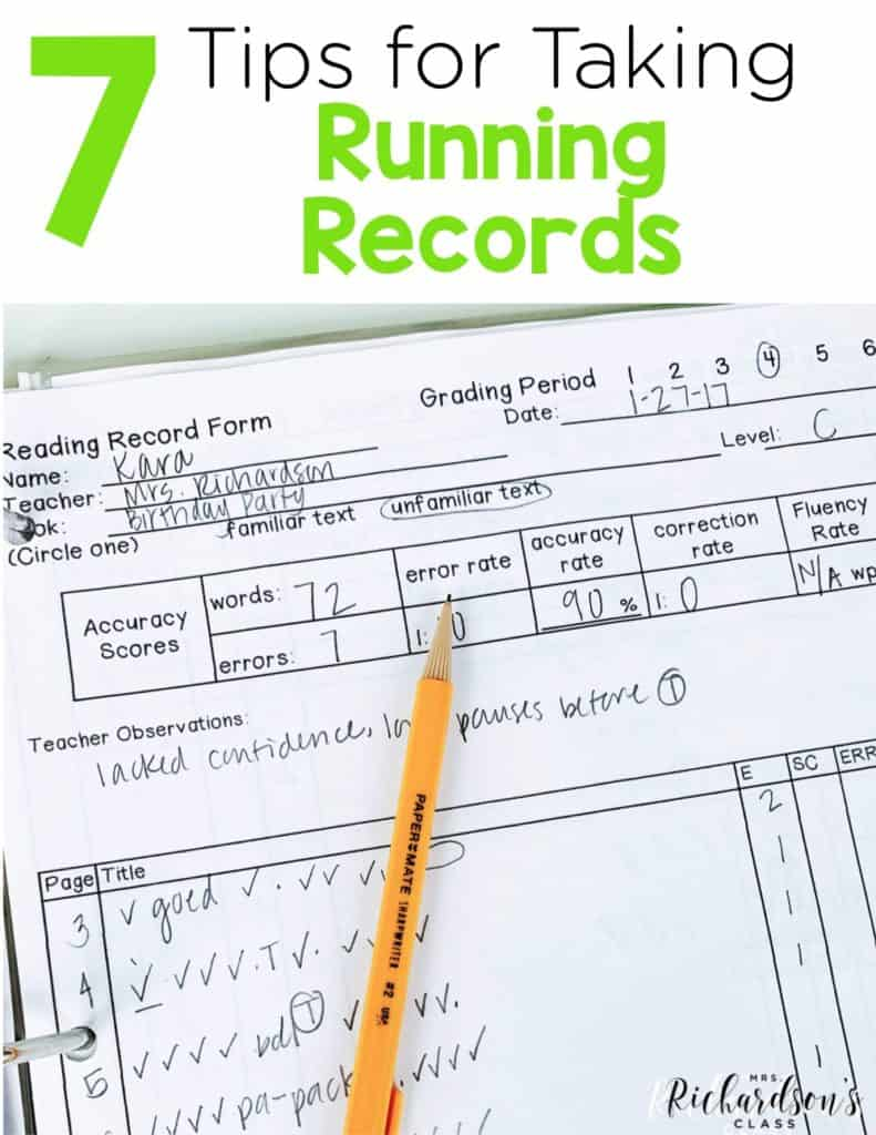7 Tips for Running Records