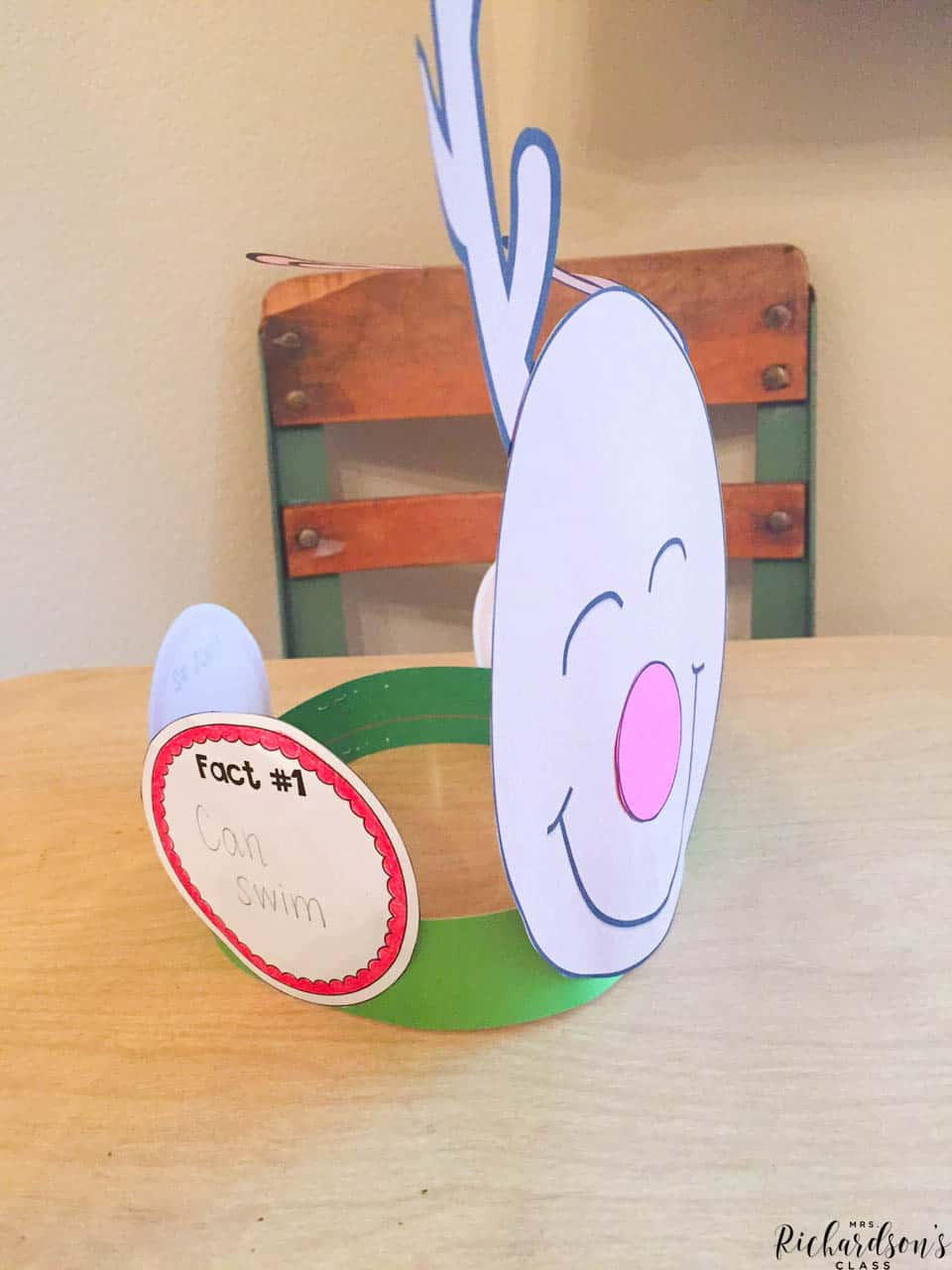 Use this reindeer writing craft to create a hat full of reindeer facts for your little learners!