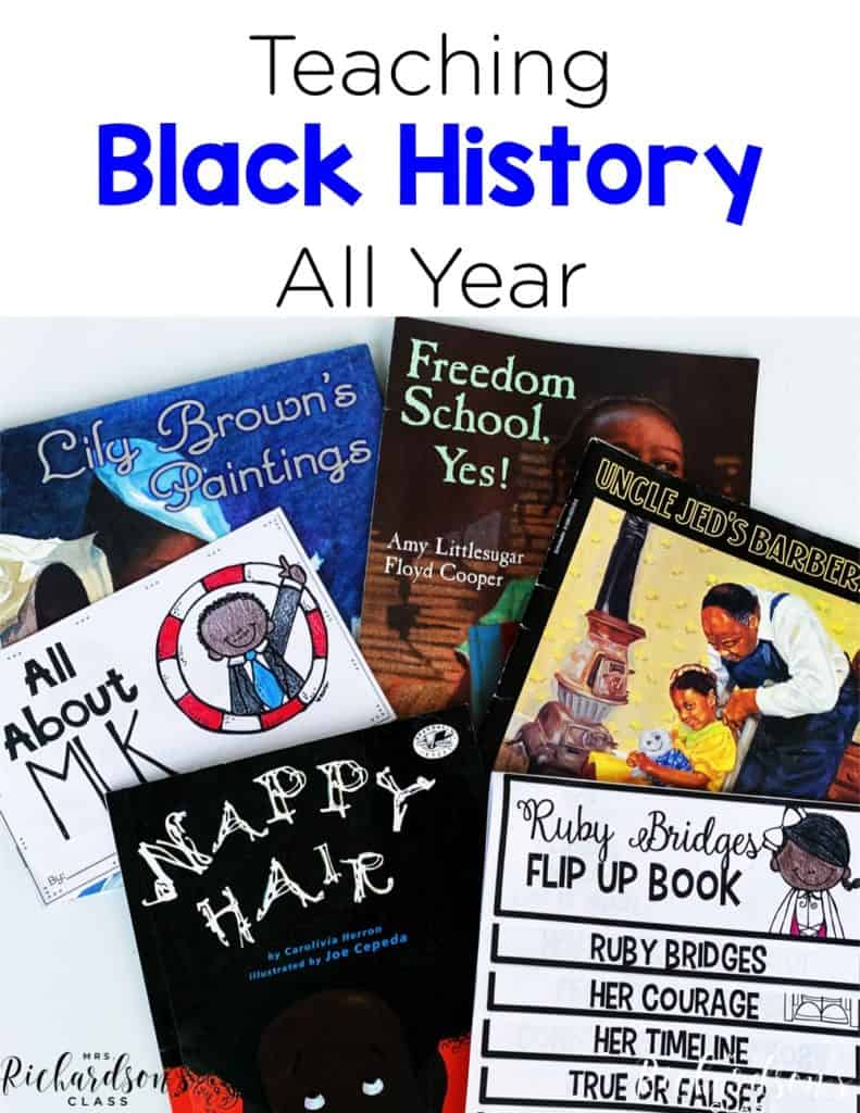 Are you looking for resources to start teaching about Black history all year? I have some great read alouds and simple engaging activities for your students as you talk about how beautiful the Black race and African culture is! Get started in your kindergarten and first grade classroom with these black history activities.