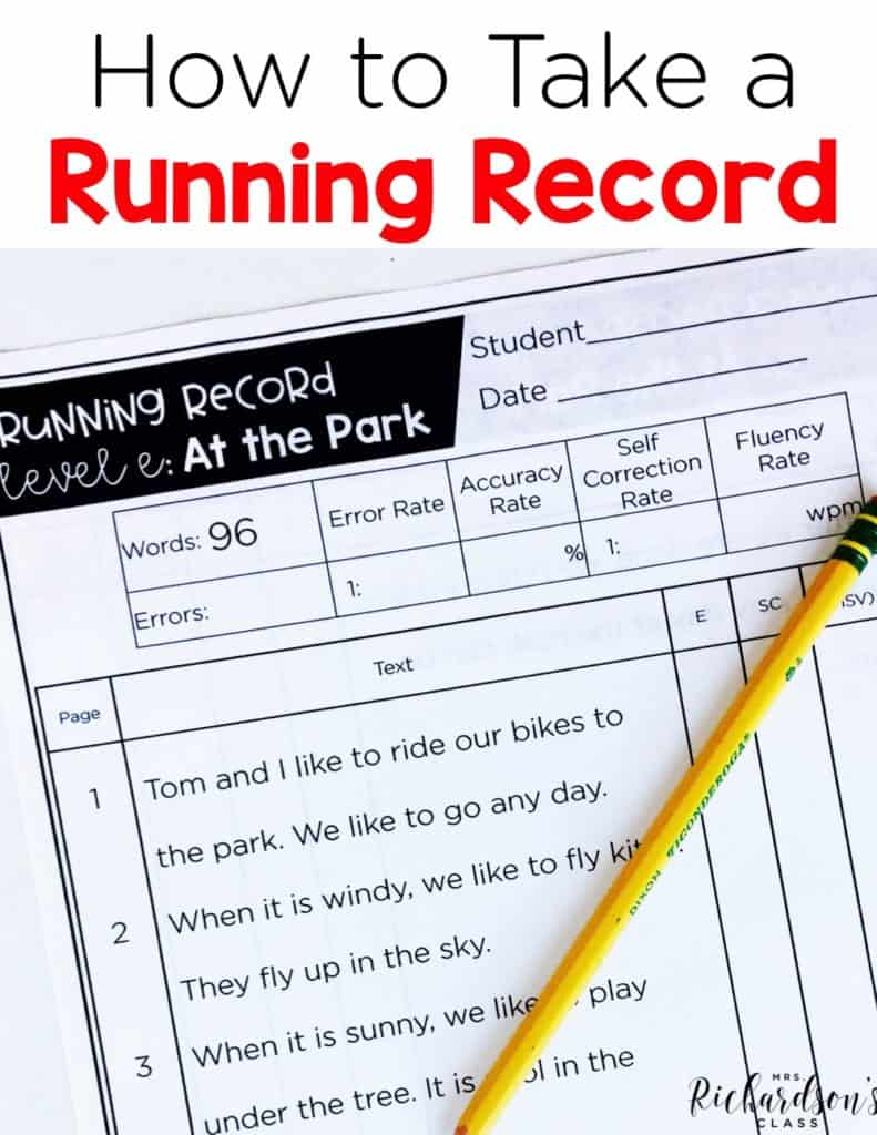 Are you ready to tackle running records in your guided reading groups? Learn the ins and outs of taking a running record in this helpful blog post. #runningrecords #guidedreading