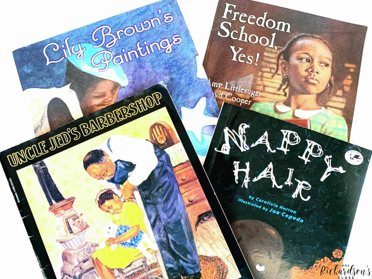 These read alouds all have main characters who are black. They discuss how the Black people work through difficult times, were courageous, and celebrate their beauty! They are great read alouds about black history!