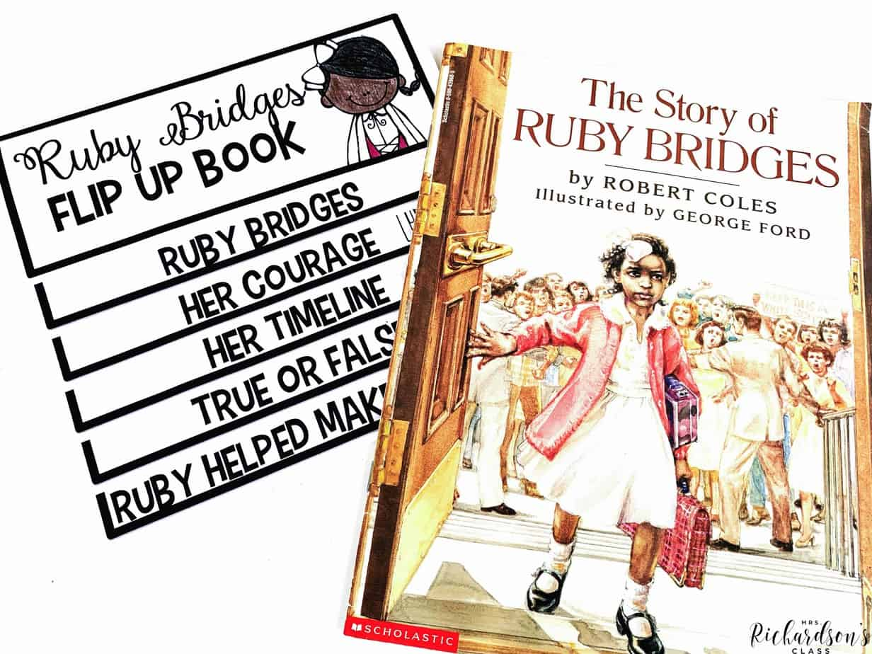 Use this FREE Ruby Bridges flip up book to teach about a young black girl who was courageous! This is a wonderful activity for teaching students to have courage, stand up for equality, and help those who are suppressed.