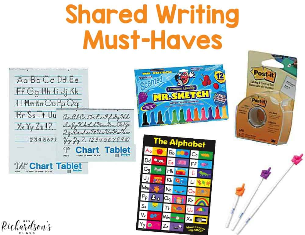 Do you do shared writing in your kindergarten classroom? These tools are favorites for me! Read more about my shared writing routine and how I did this in my kindergarten and first grade classrooms.