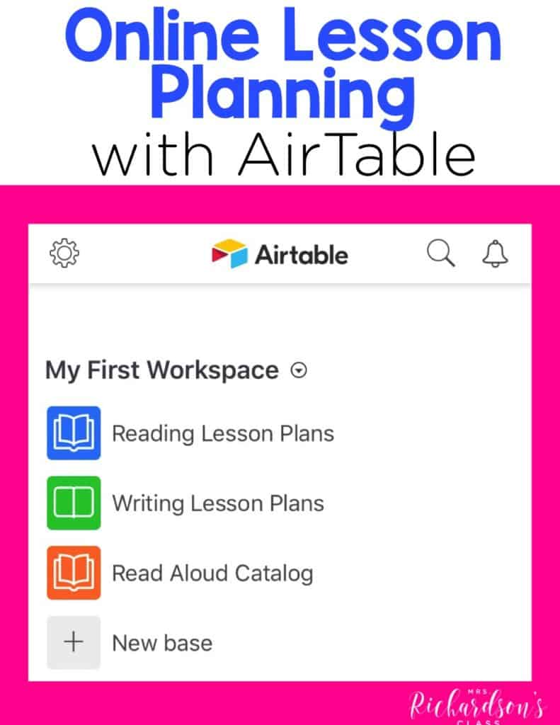 Using AirTable for Online Lesson Plan Writing