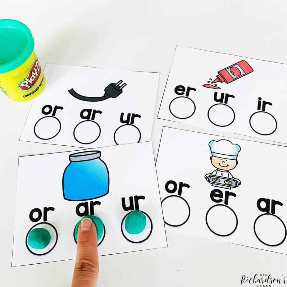 r controlled vowel word work activity