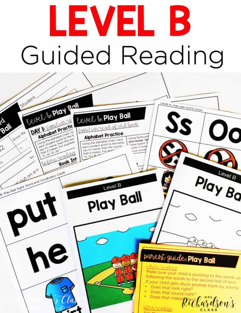 Level B Guided Reading