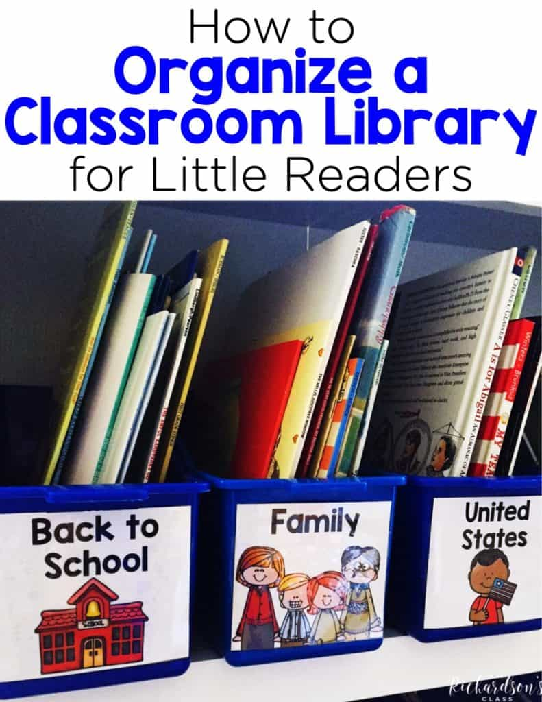 How to Organize a Classroom Library for Little Readers